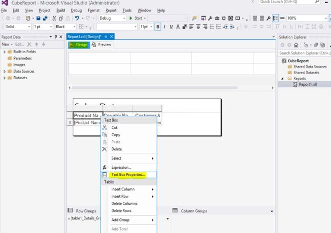 Create your first SSRS report using wizard – Jim Salasek's SQL